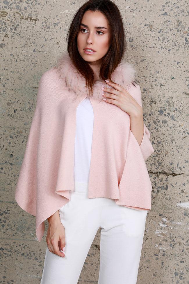 Raccoon Fur Cape Blush, Dolce Cabo