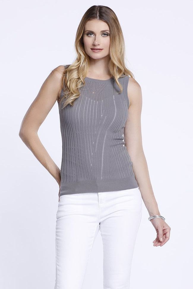 Crew Knit Tank, Taupe, Tank Top, Dolce Cabo