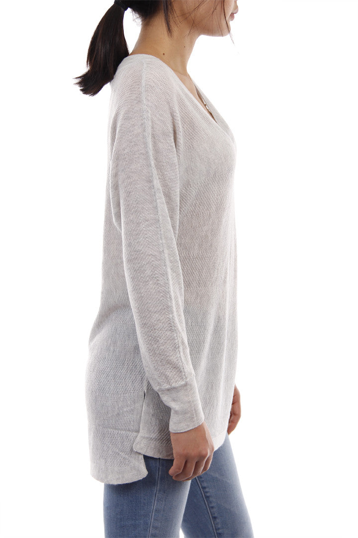 Light Knit Top Heather Grey