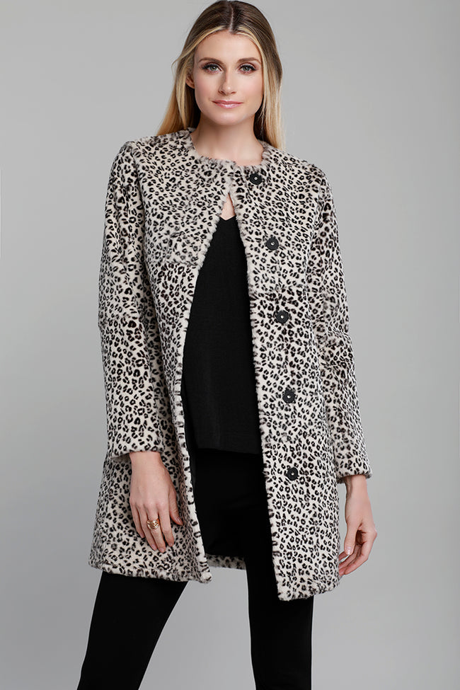 Leopard Rabbit Fur Coat, Dolce Cabo
