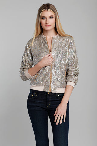 Metallic Lurex Knit Blouse