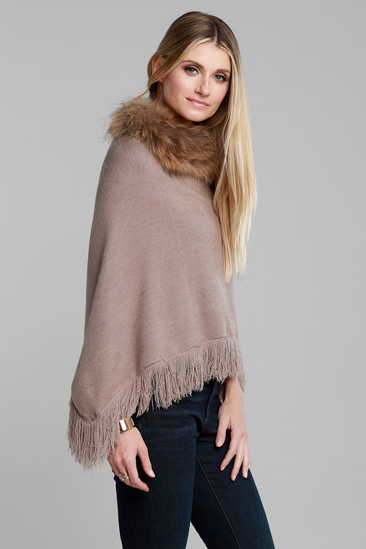 Real rabbit fur on a knitted backing cardigan jacket  Available in Charcoal  XS - XL