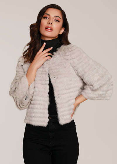 Crop Faux Fur Shearling Vest