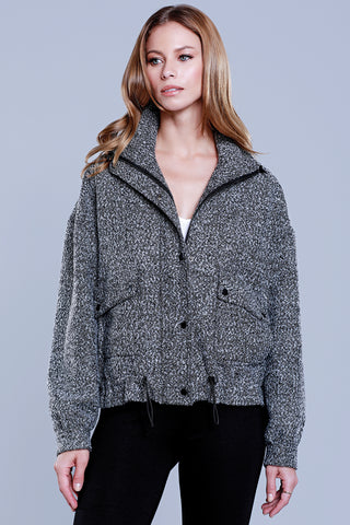 Sequin Faux Fur Jacket
