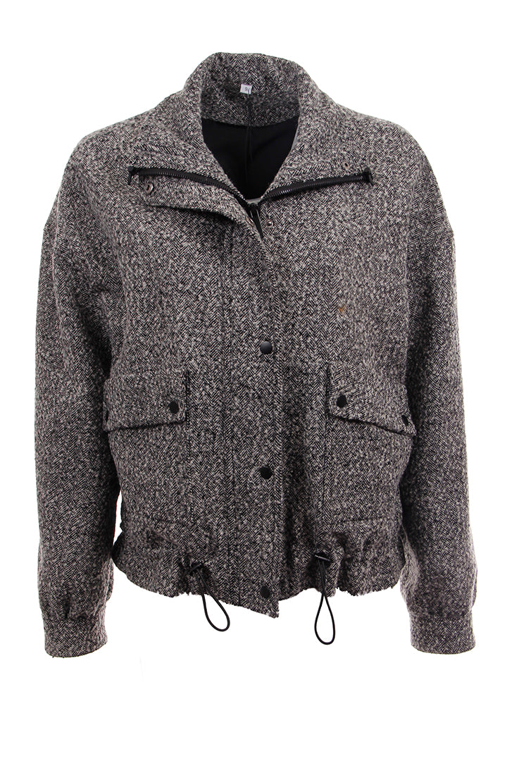 Cargo Hound Tweed Jacket, Black/Multi, Dolce Cabo