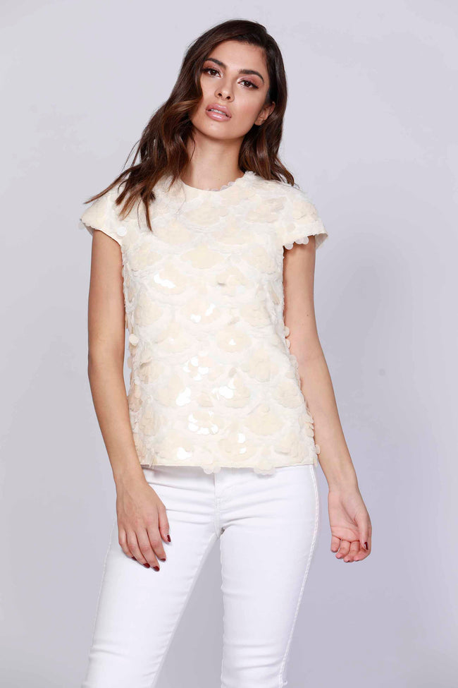 Payette Sequin Cap Sleeve Top