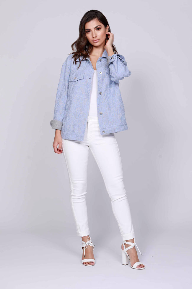 Lace Denim Jacket
