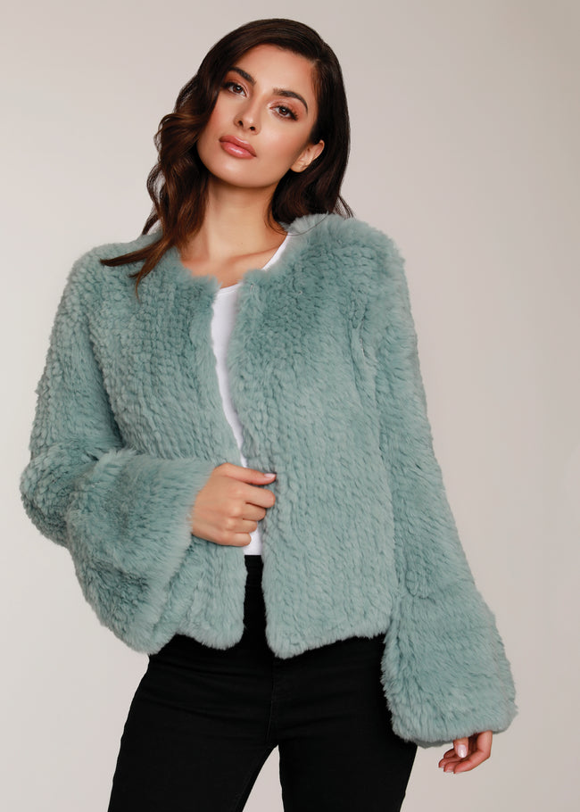 Bell Sleeve Fur Jacket