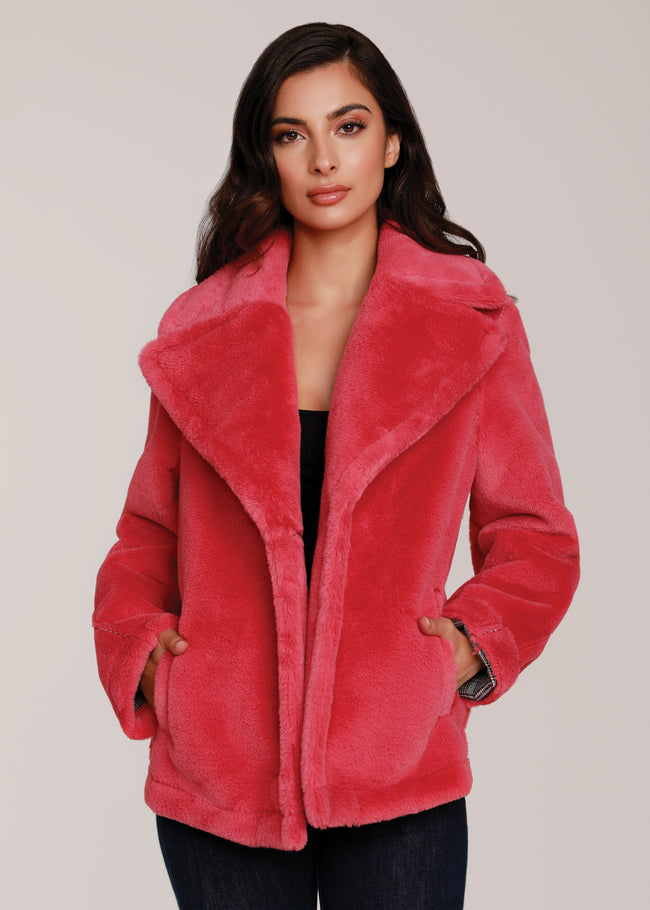 Double Faced Faux Fur Jacket
