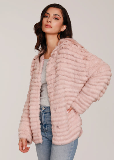 Over sized Boyfriend Fit Fur Jacket