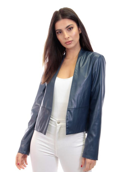 Tailored Faux Leather Jacket