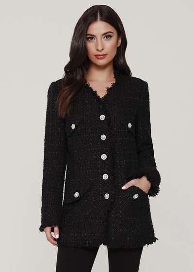 Pearl Button Tweed Blazer