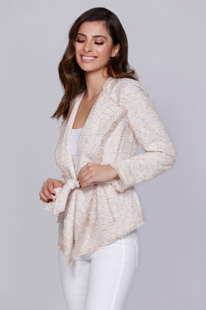Wrap Tweed Jacket
