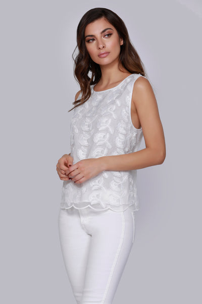 3D Lace Tank by Dolce Cabo