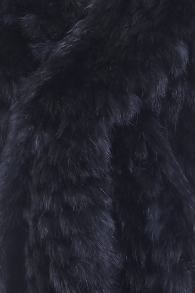 Black Rabbit Fur Stole