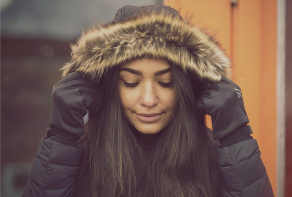 a girl in the winter jacket