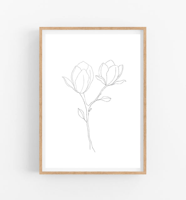 black and white botanical prints