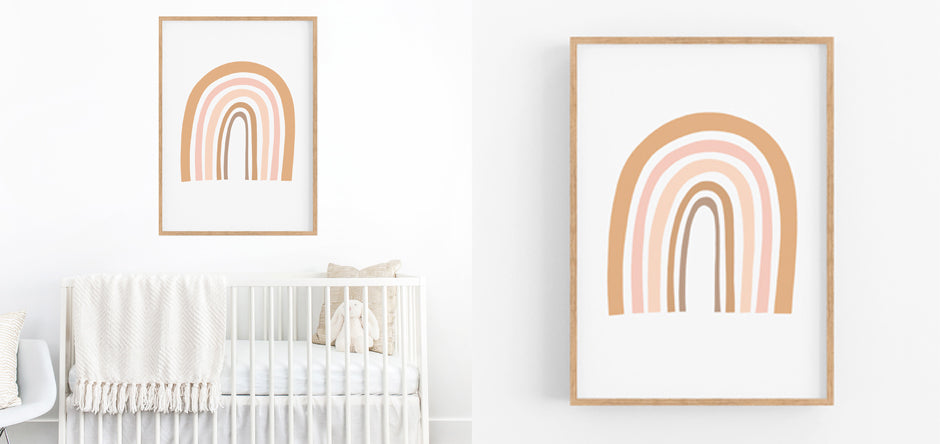 rainbow - nursery wall art