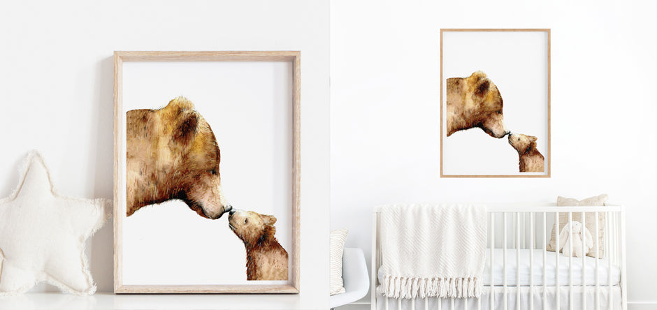 Bear - nursery print - kids wall art