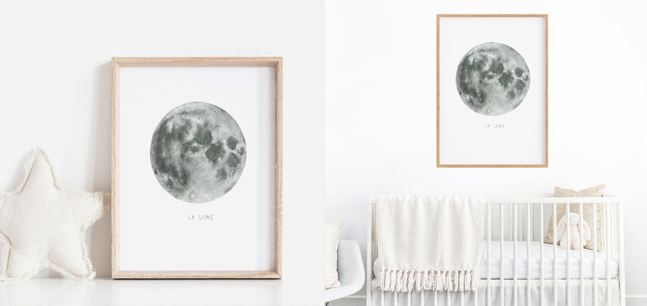 full moon print - nursery prints