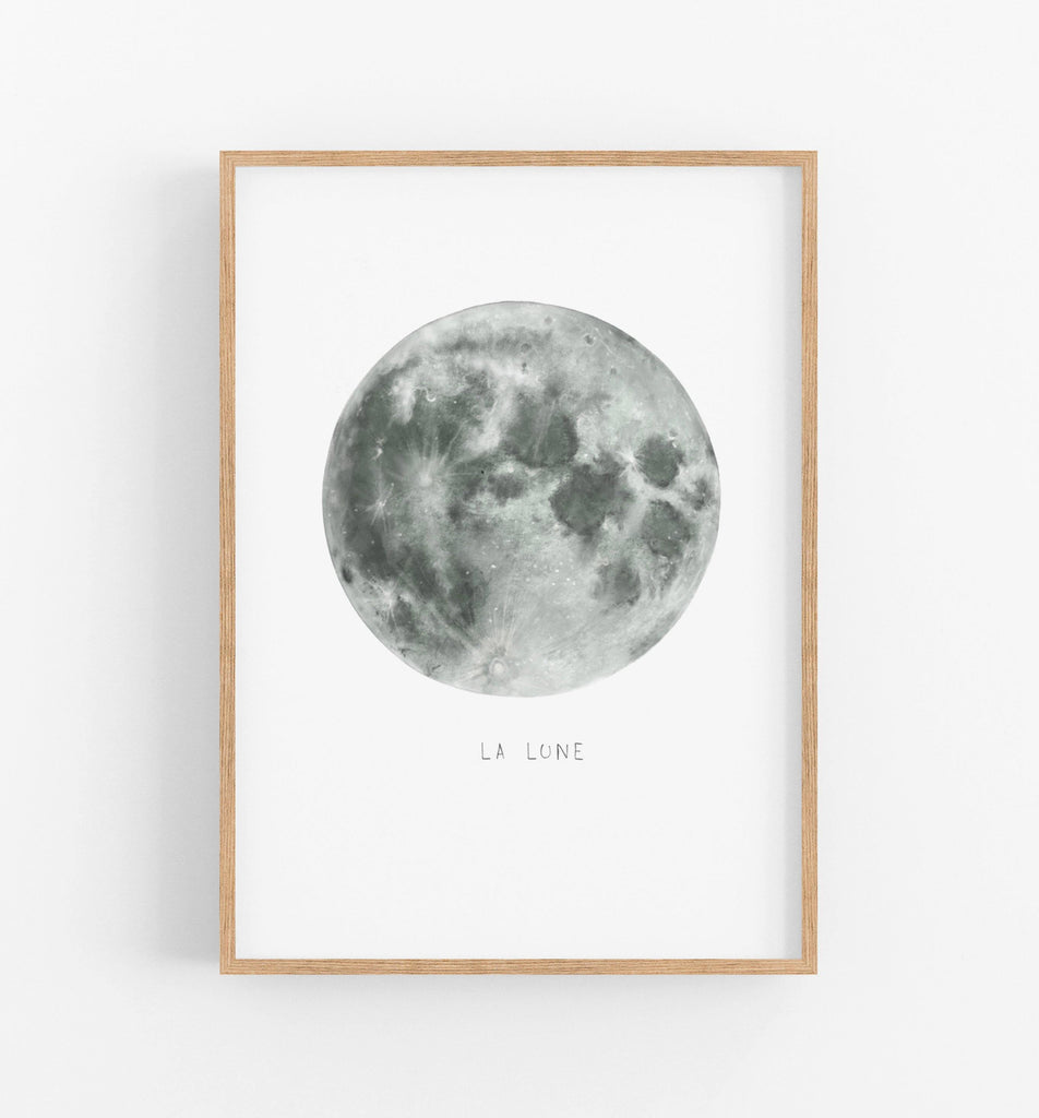 Full Moon Art Print - the wild woods