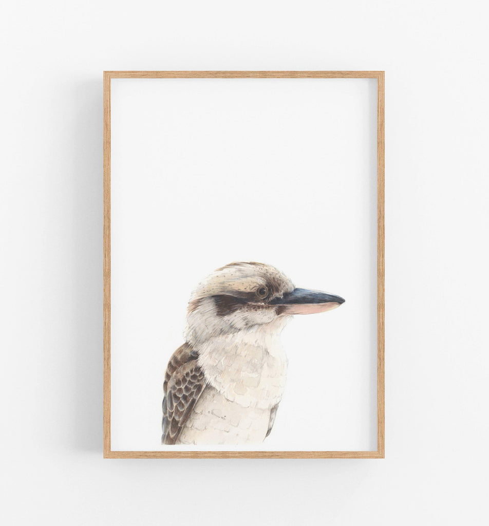 Kookaburra Art Print - the wild woods