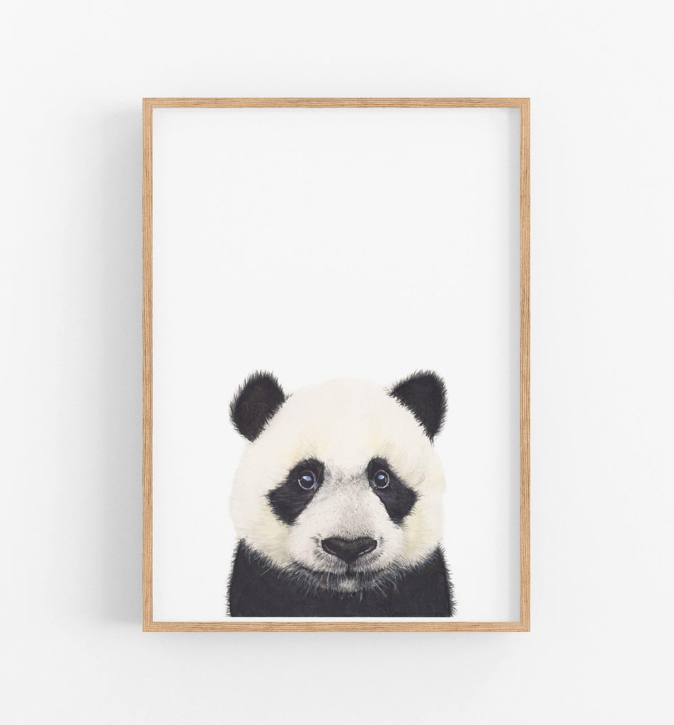 black and white animal wall art print