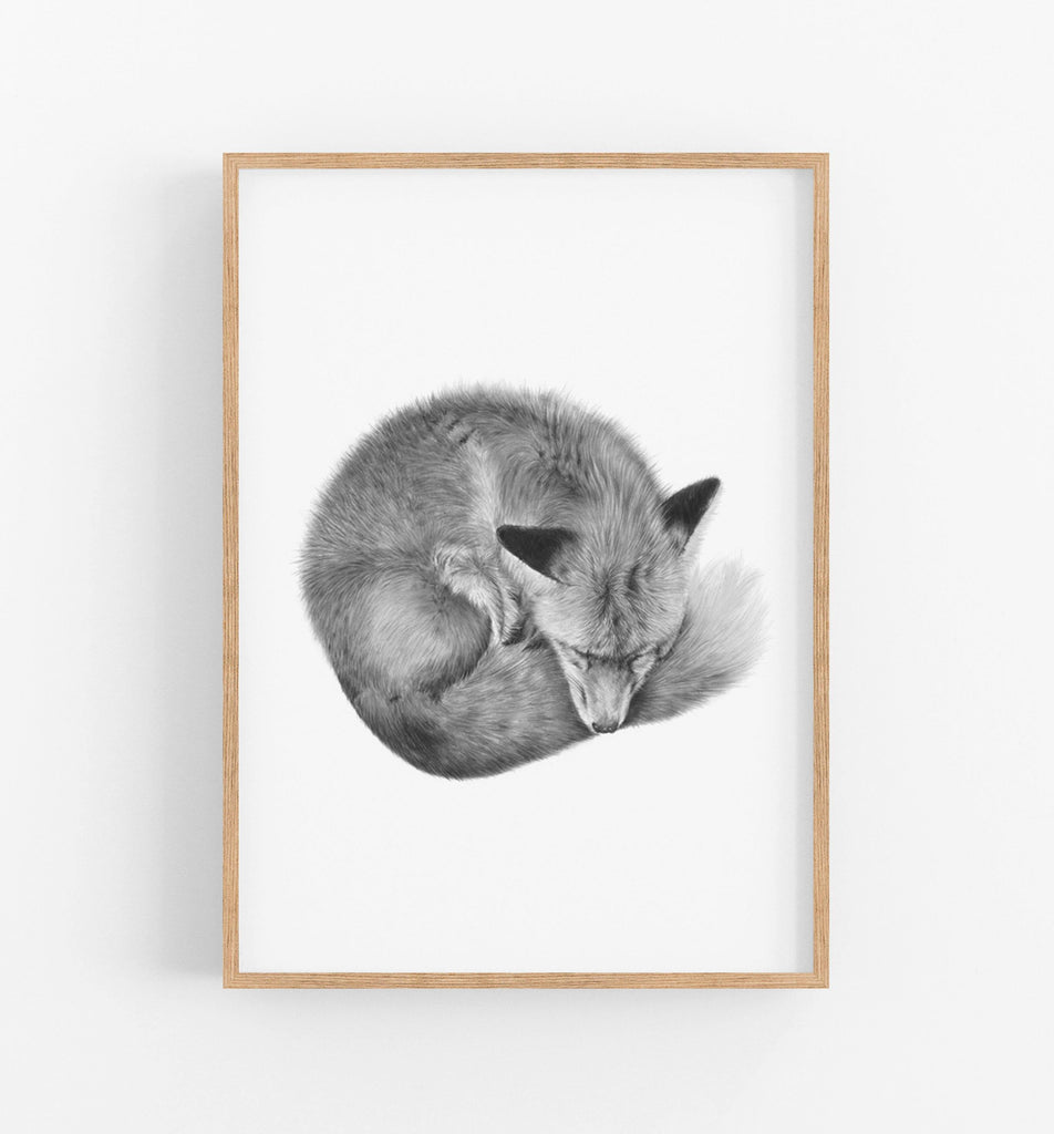 Fox Art Print - the wild woods
