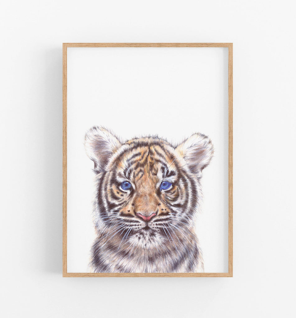 Tiger Art  Print - the wild woods