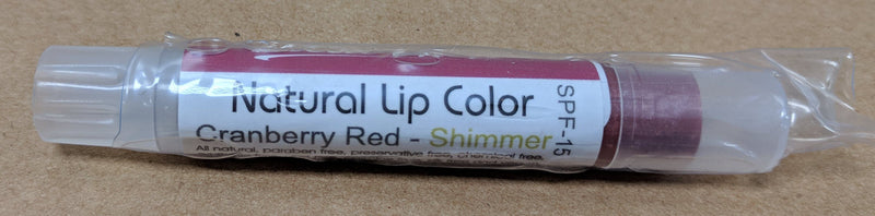 Bella Mari Natural Lip Color; 0.1floz - Bella Mari Natural Lip Color; 0.1floz - Cranberry Red Shimmer