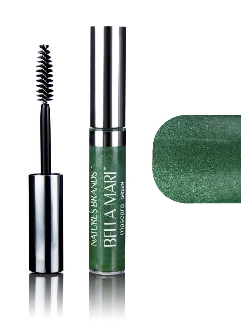 Bella Mari Natural Mascara; 0.4oz - Bella Mari Natural Mascara; 0.4oz - Green