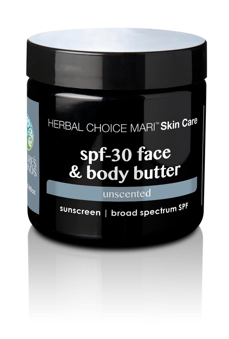 Herbal Choice Mari Natural SPF 30 Face & Body Butter, Unscented - Herbal Choice Mari Natural SPF 30 Face & Body Butter, Unscented - Herbal Choice Mari Natural SPF 30 Face & Body Butter, Unscented
