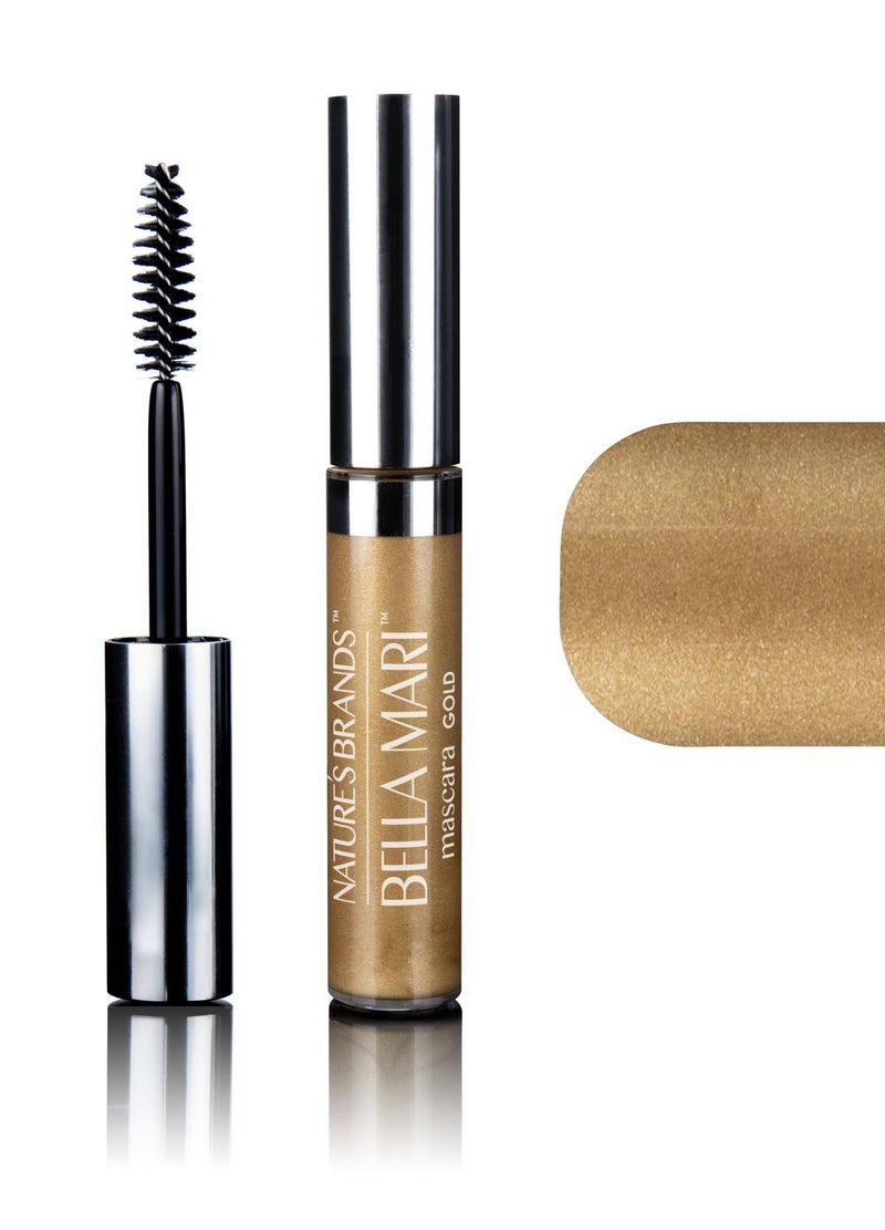 Bella Mari Natural Mascara; 0.4oz - Bella Mari Natural Mascara; 0.4oz - Gold