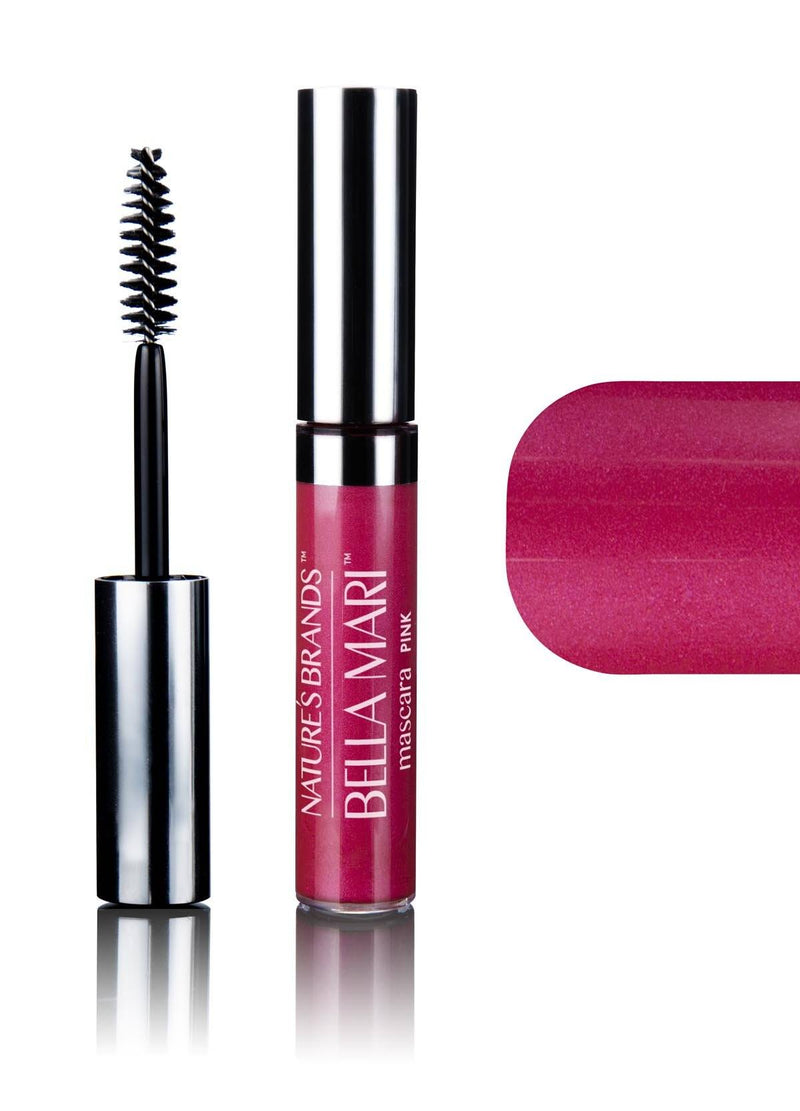 Bella Mari Natural Mascara; 0.4oz - Bella Mari Natural Mascara; 0.4oz - Pink