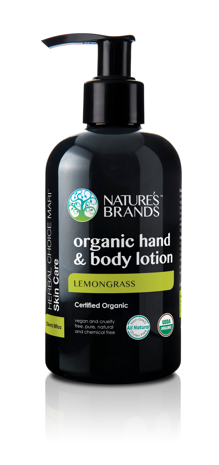 Herbal Choice Mari Organic Hand & Body Lotion, Lemongrass - Herbal Choice Mari Organic Hand & Body Lotion, Lemongrass - Herbal Choice Mari Organic Hand & Body Lotion, Lemongrass