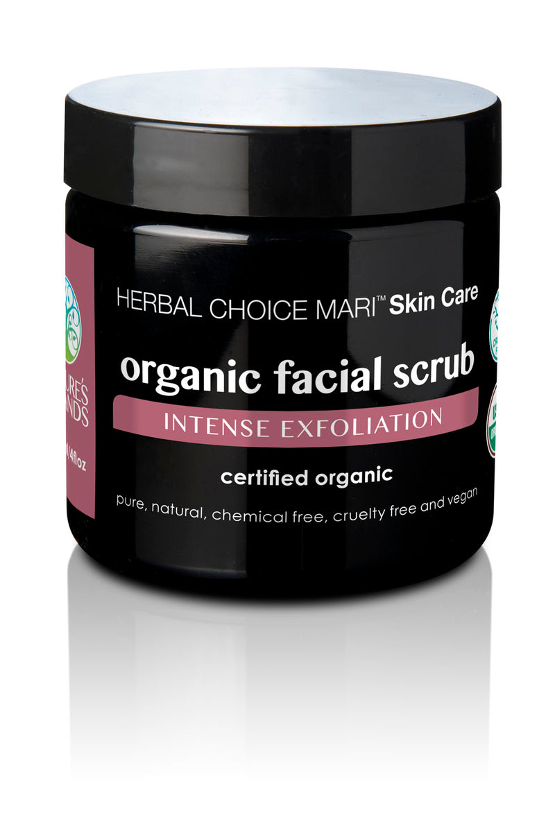 Herbal Choice Mari Organic Facial Scrub, Intense Exfoliation - Herbal Choice Mari Organic Facial Scrub, Intense Exfoliation - Herbal Choice Mari Organic Facial Scrub, Intense Exfoliation