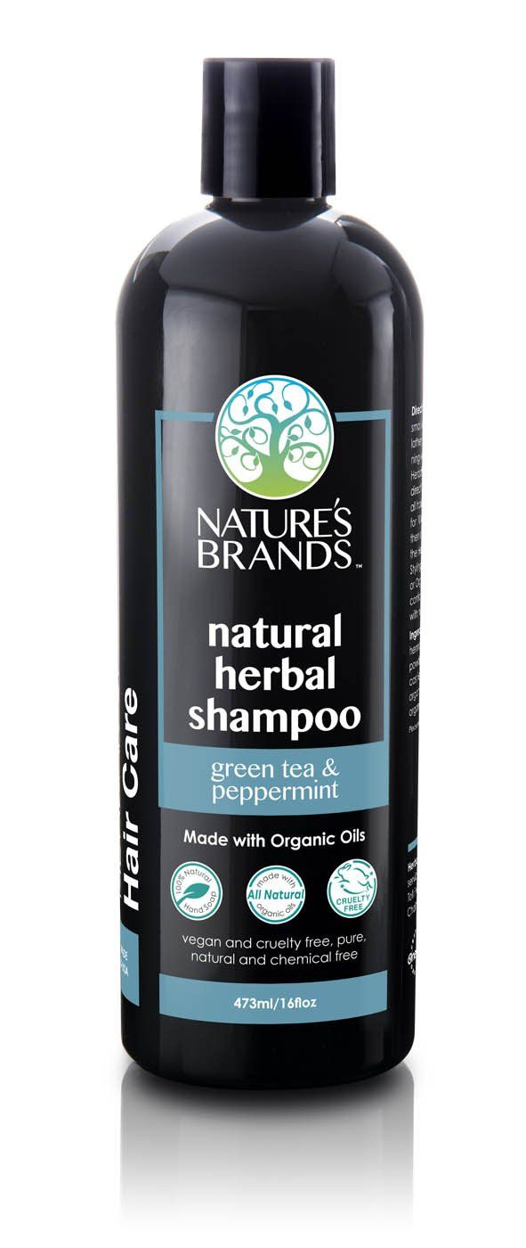 Herbal Choice Mari Natural Shampoo, Green Tea And Peppermint; Made with Organic - Herbal Choice Mari Natural Shampoo, Green Tea And Peppermint; Made with Organic - 16floz
