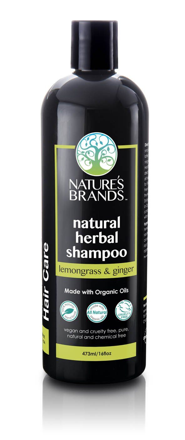 Herbal Choice Mari Natural Shampoo, Lemongrass And Ginger; Made with Organic - Herbal Choice Mari Natural Shampoo, Lemongrass And Ginger; Made with Organic - 16floz