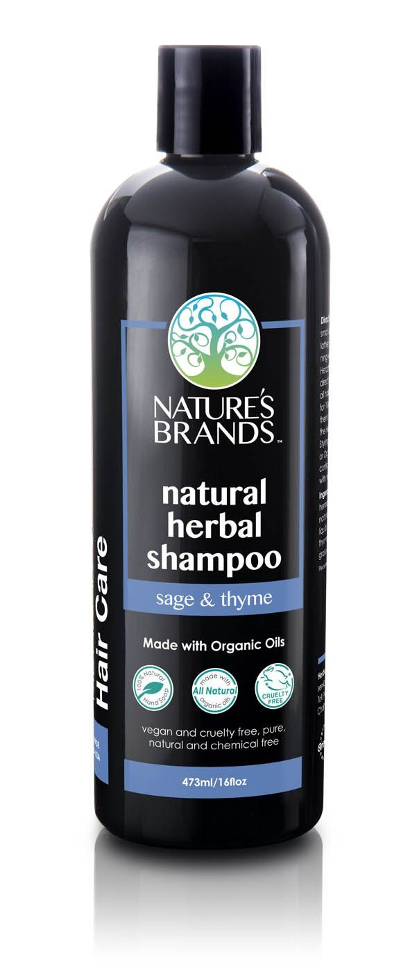Herbal Choice Mari Natural Shampoo, Sage & Thyme; Made with Organic - Herbal Choice Mari Natural Shampoo, Sage & Thyme; Made with Organic - 16floz