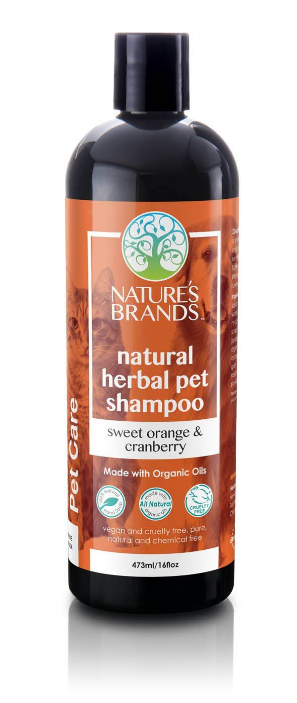 Herbal Choice Mari Natural Pet Shampoo, Sweet Orange And Cranberry; Made with Organic - Herbal Choice Mari Natural Pet Shampoo, Sweet Orange And Cranberry; Made with Organic - 16floz