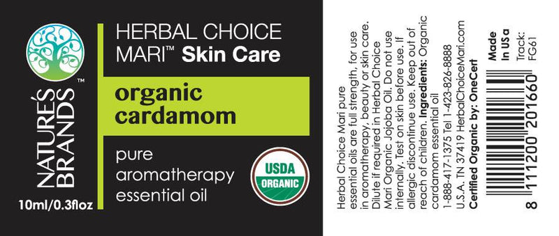 Herbal Choice Mari Organic Cardamom Essential Oil; 0.3floz Glass - Herbal Choice Mari Organic Cardamom Essential Oil; 0.3floz Glass - Herbal Choice Mari Organic Cardamom Essential Oil; 0.3floz Glass