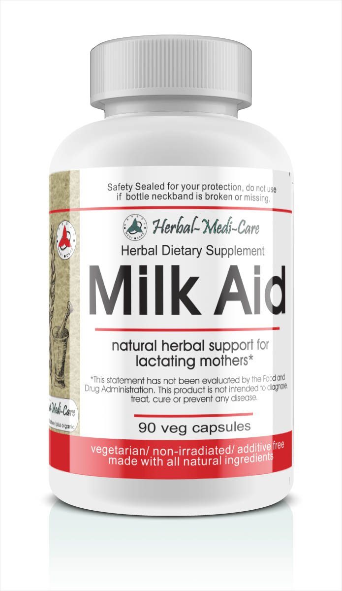 Herbal-Medi-Care Whole Food Milk Aid Vegetarian Capsules; 90-Count - Herbal-Medi-Care Whole Food Milk Aid Vegetarian Capsules; 90-Count - Herbal-Medi-Care Whole Food Milk Aid Vegetarian Capsules; 90-Count