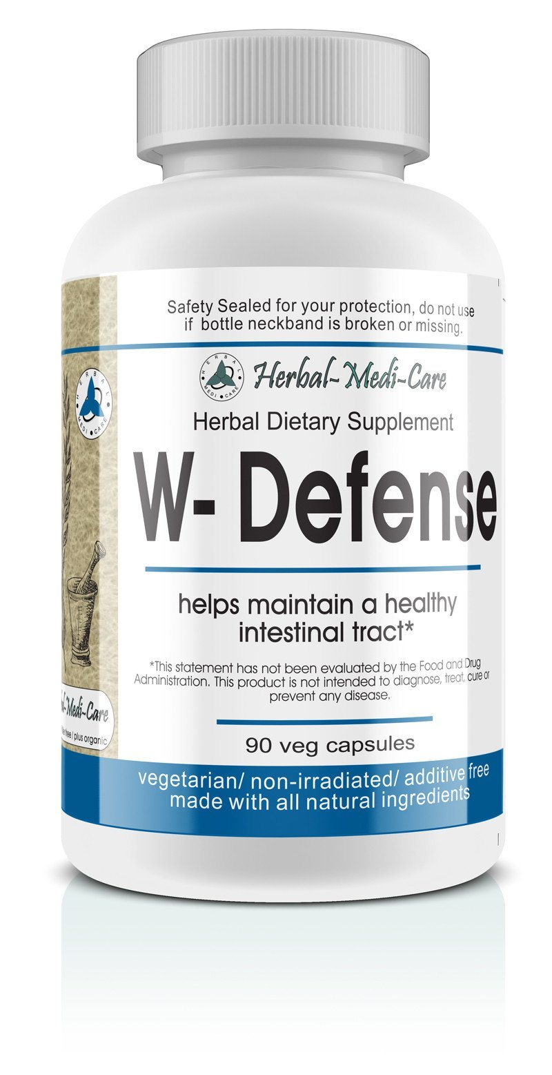 Herbal-Medi-Care Whole Food W-Defense (Intestinal Invaders) Vegetarian Capsules; 90-Count - Herbal-Medi-Care Whole Food W-Defense (Intestinal Invaders) Vegetarian Capsules; 90-Count - Herbal-Medi-Care Whole Food W-Defense (Intestinal Invaders) Vegetarian Capsules; 90-Count