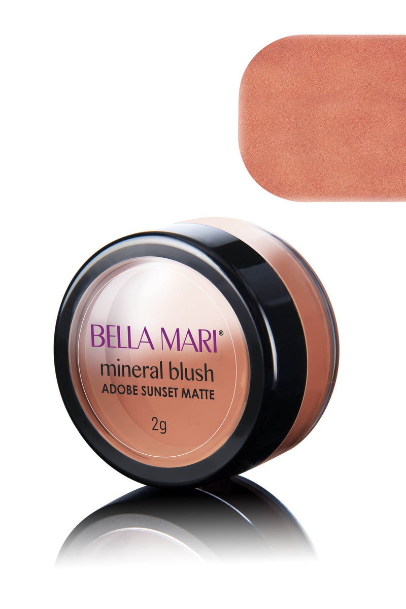 Bella Mari Natural Mineral Blush - Bella Mari Natural Mineral Blush - 0.1oz Adobe Sunset Matte