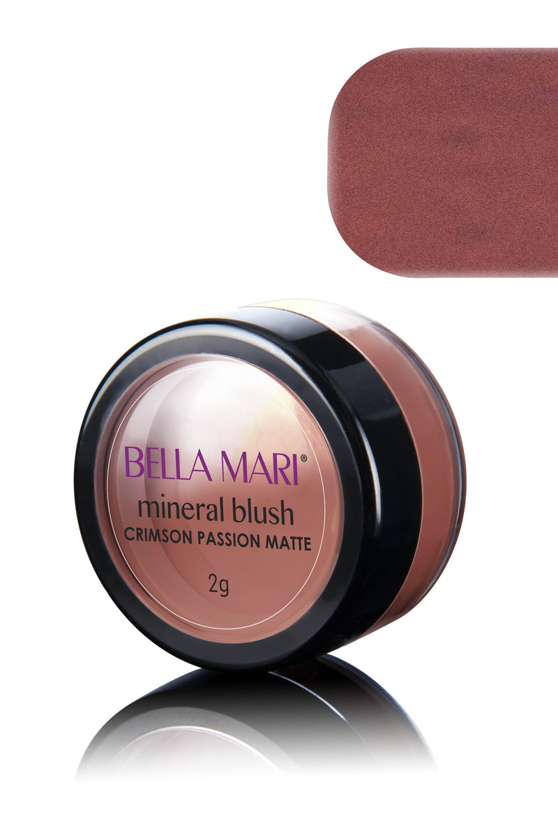 Bella Mari Natural Mineral Blush - Bella Mari Natural Mineral Blush - 0.1oz Crimson Passion Matte