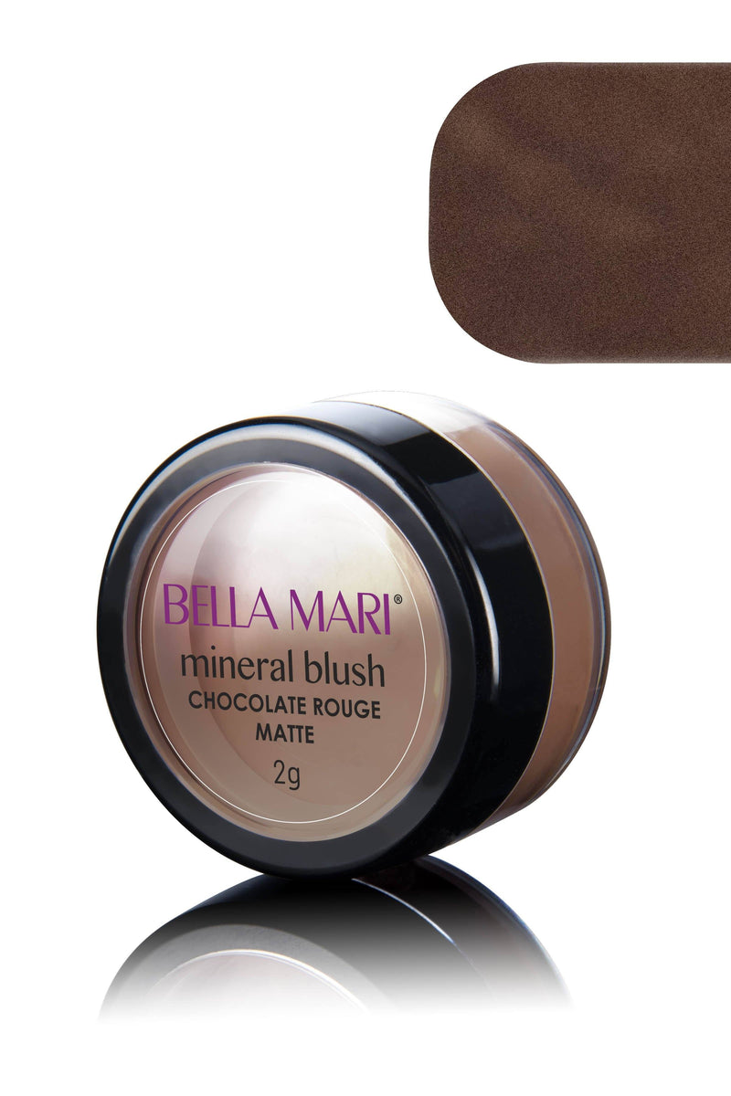 Bella Mari Natural Mineral Blush - Bella Mari Natural Mineral Blush - 0.1oz Chocolate Rouge Matte