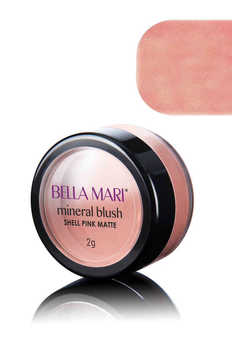 Bella Mari Natural Mineral Blush - Bella Mari Natural Mineral Blush - 0.1oz Shell Pink Matte