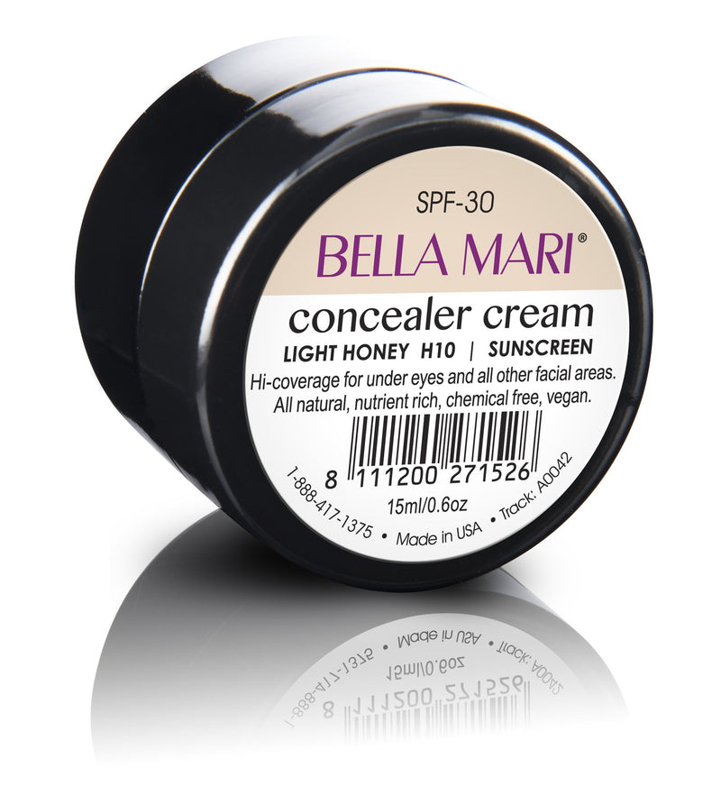 Bella Mari Natural Concealer Cream - Bella Mari Natural Concealer Cream - Light Honey