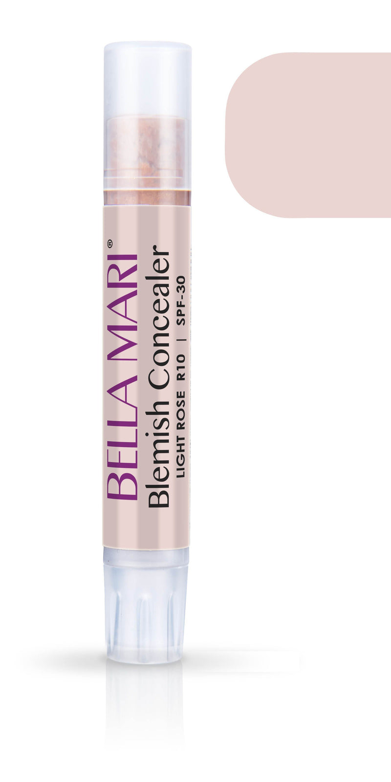 Bella Mari Natural Blemish Concealer Stick; 0.1floz - Bella Mari Natural Blemish Concealer Stick; 0.1floz - Light Rose