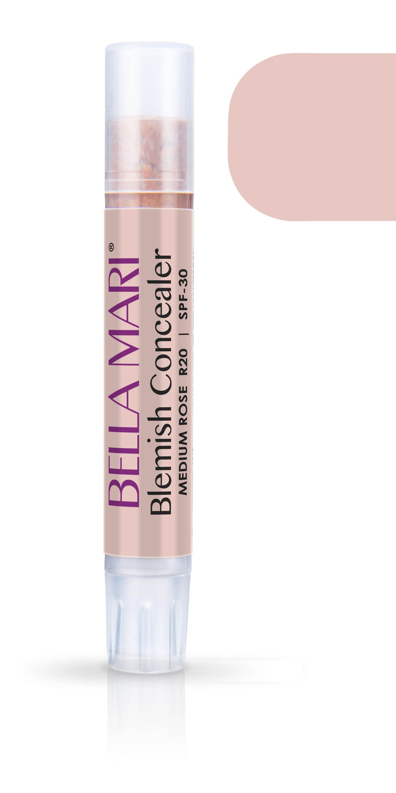 Bella Mari Natural Blemish Concealer Stick; 0.1floz - Bella Mari Natural Blemish Concealer Stick; 0.1floz - Medium Rose